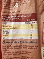 8 briochettes pépites chocolat - Nutrition facts