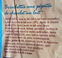 Briochettes aux pépites de chocolat au lait - Ingrédients - fr