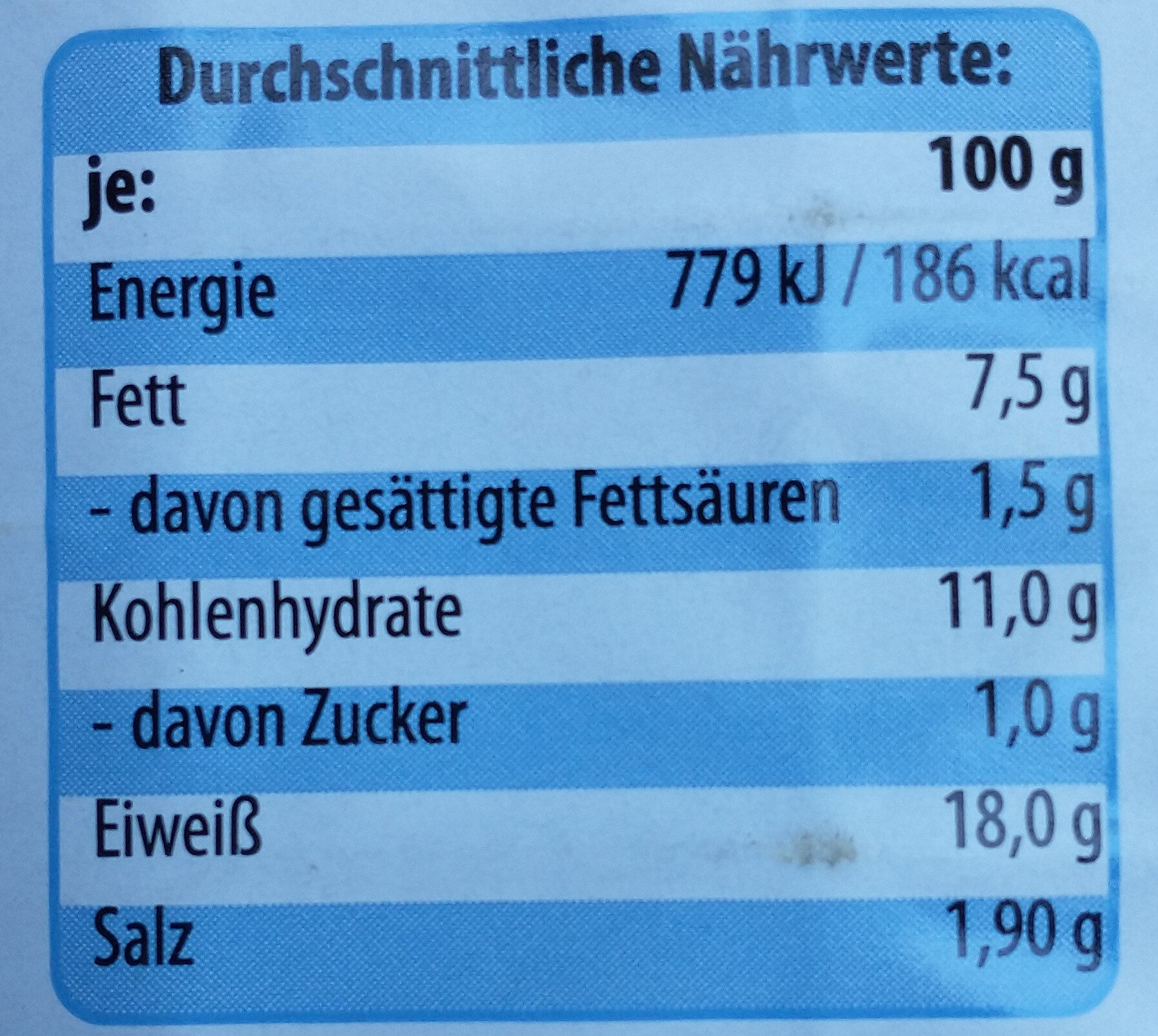 Schweineschnitzel - Nährwertangaben - de
