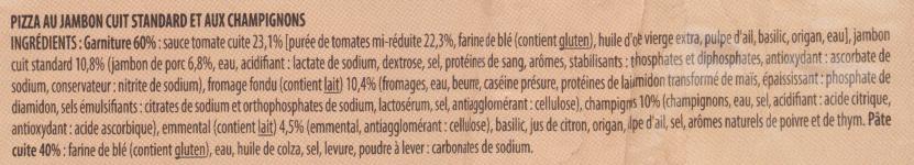 Pizza jambon et champignons - Ingrediënten - fr