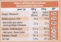 Pizza jambon et champignons - Voedingswaarden - fr