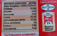 Chorizo Extra - Voedigswaarden
