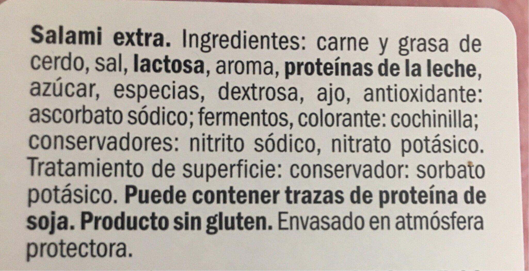 Salchichón extra - Ingrediënten - es