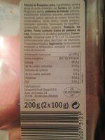 Chorizo extra de Pamplona - Voedingswaarden - es