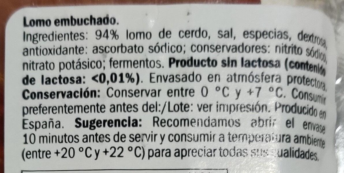 Lomo Embuchado - Ingrediënten - fr