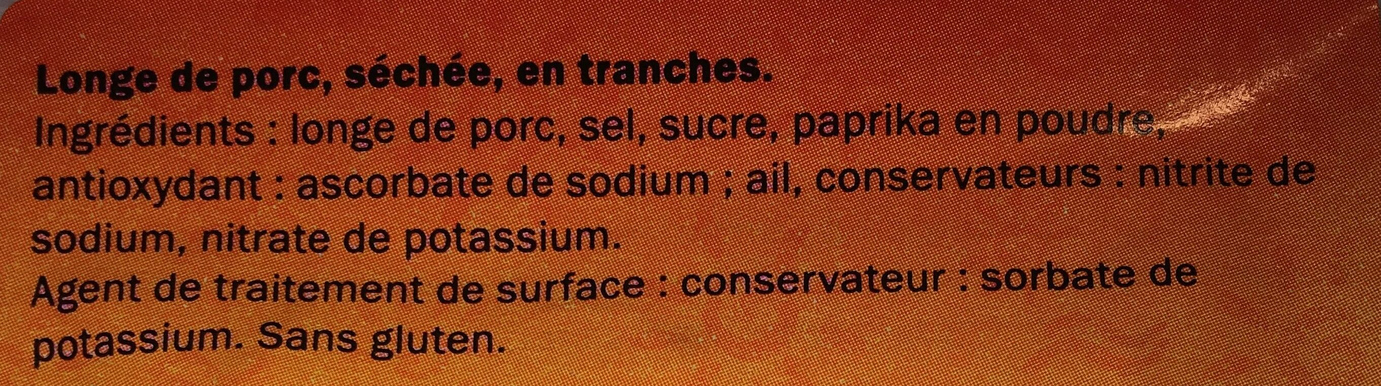 Lomo Embuchado - Ingredienti - fr