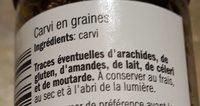 Graines de carvi - Ingredienti - fr