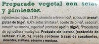 Rulo vegetal Setas y pimientos - Ingredients