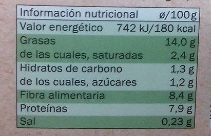 Tofu Frutos Secos Bio - Nutrition facts