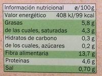 Tofu alga wakame - Voedingswaarden - es
