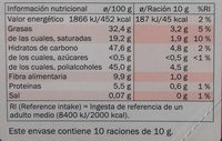Chocolate negro 52% - Nutrition facts - es