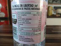Leche Fresca pastoreo - Información nutricional