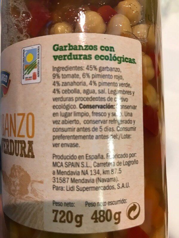 Garbanzo con Verdura - Ingrediënten