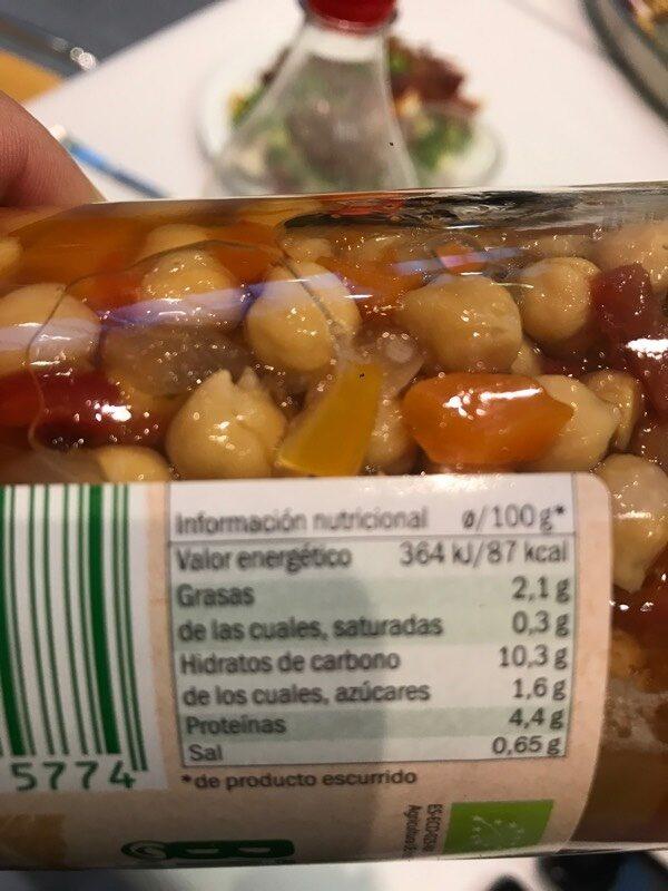 Garbanzo con Verdura - Voedingswaarden