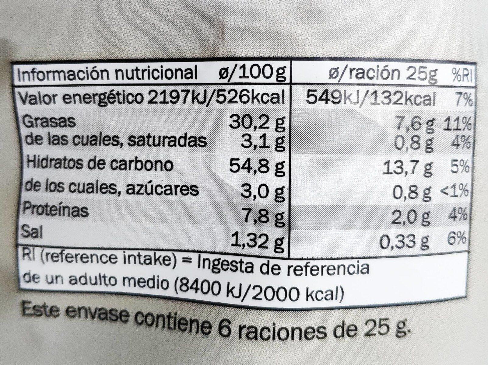 Patatas fritas estilo Marrakesh - Nutrition facts - es