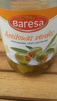Azeitonas verdes recheadas com pimento - Produit