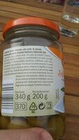 Azeitonas verdes recheadas com pimento - Ingrédients
