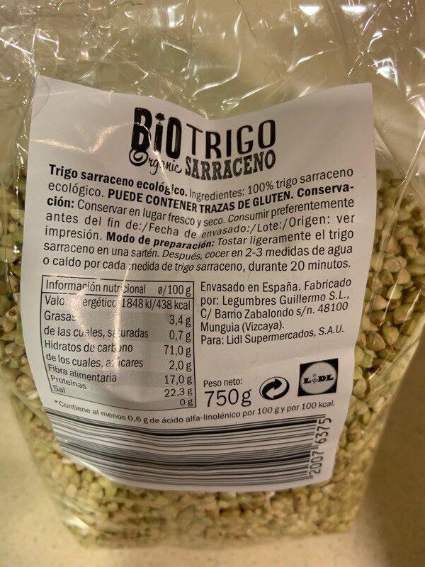 Trigo Sarraceno - Ingredientes - es