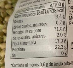 Trigo Sarraceno - Información nutricional - es