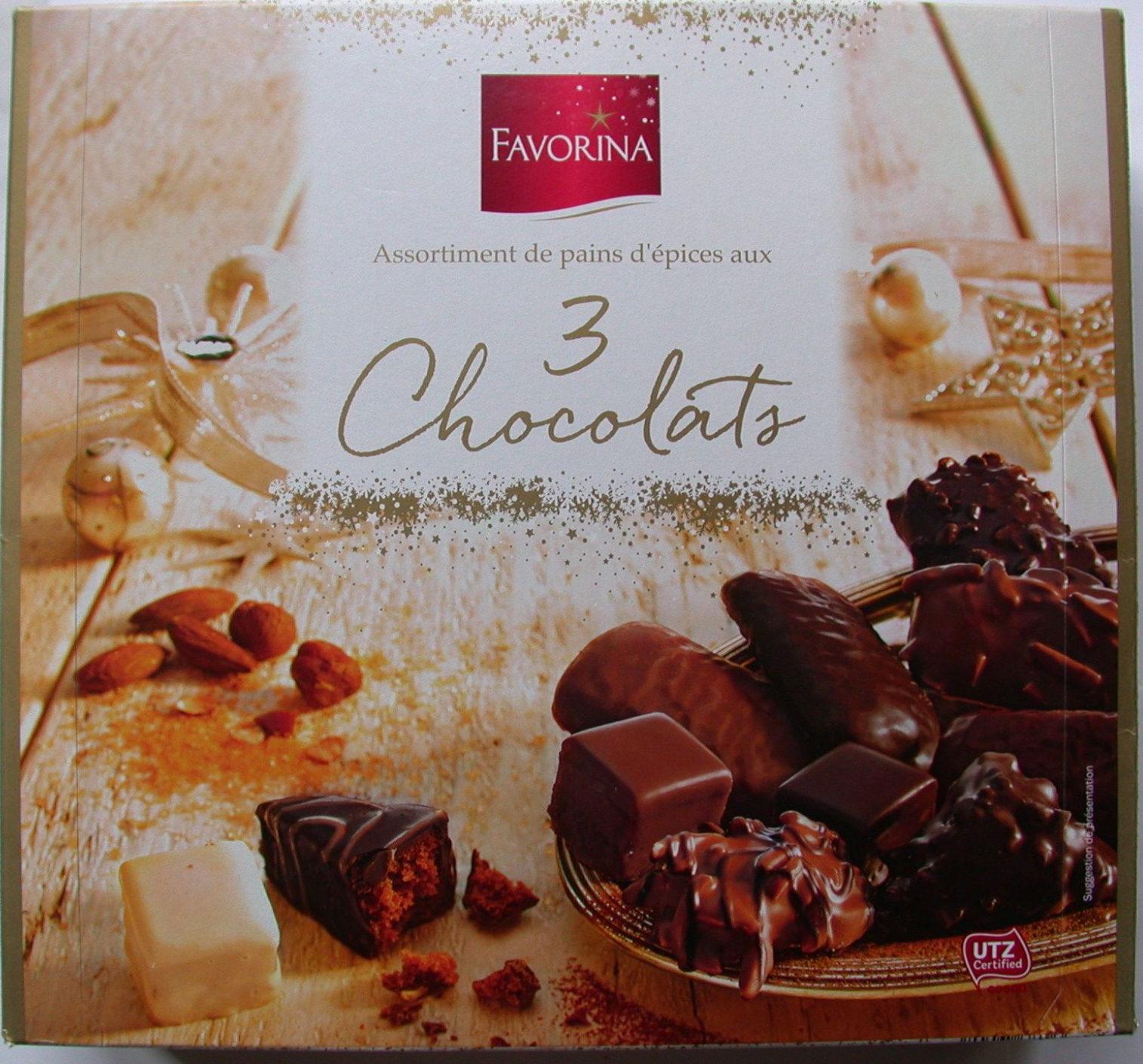 Assortiment de pains d'épices aux 3 chocolats - Produit - fr