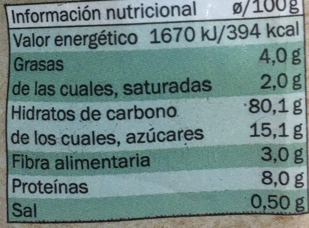Estrellitas con chocolate - Informació nutricional - es