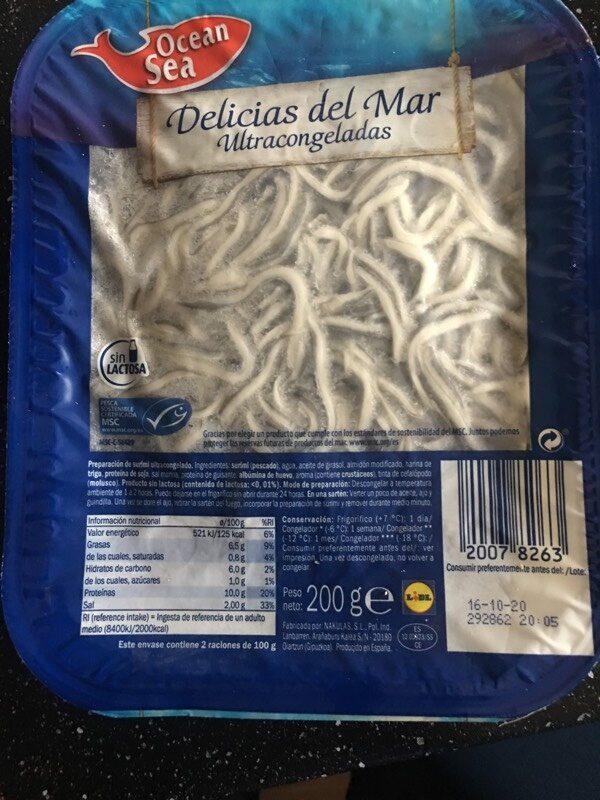 Delicias del mar - Producte