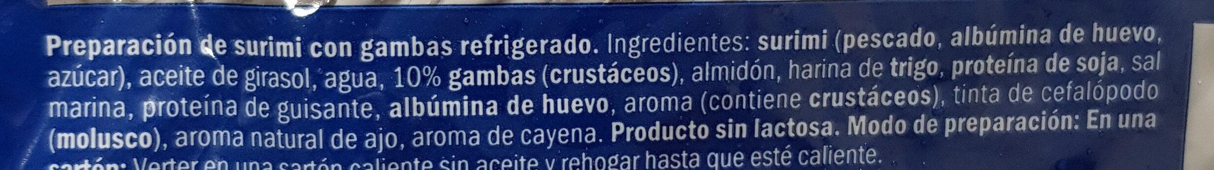 Delicias al Ajillo con Gambas - Ingredientes