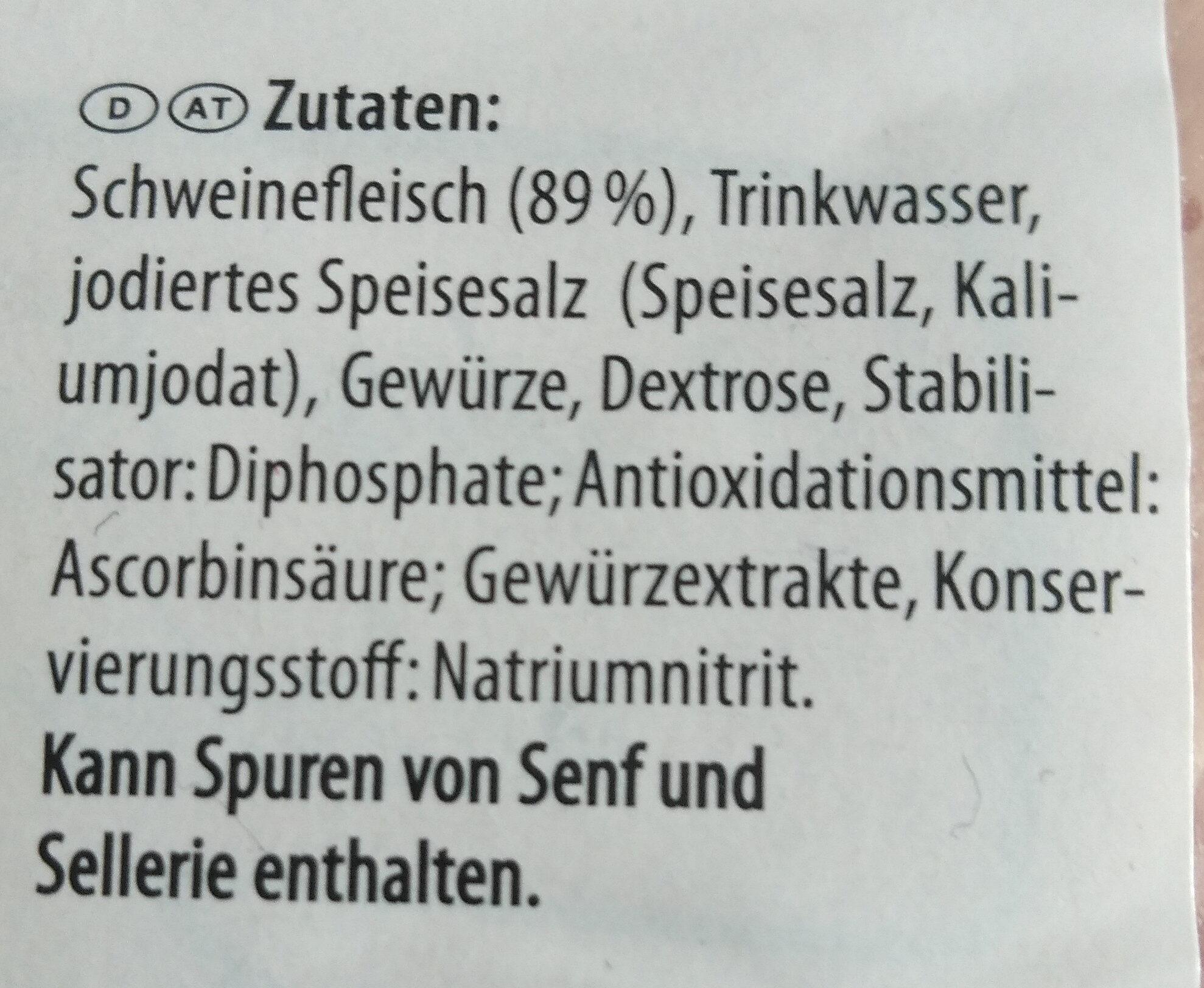 Bierschinken - Ingredients