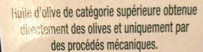 Huile d'olive - Ingrediënten