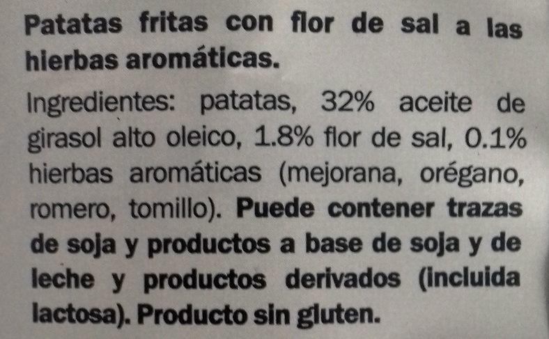 Patatas fritas flor de sal a las hierbas aromáticas - Ingrédients - es