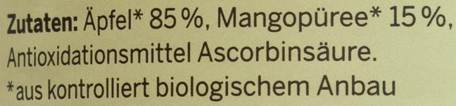 Bio Apfel-Mangomark - Ingredients - de