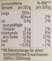 Bio Apfel-Mangomark - Nutrition facts - de
