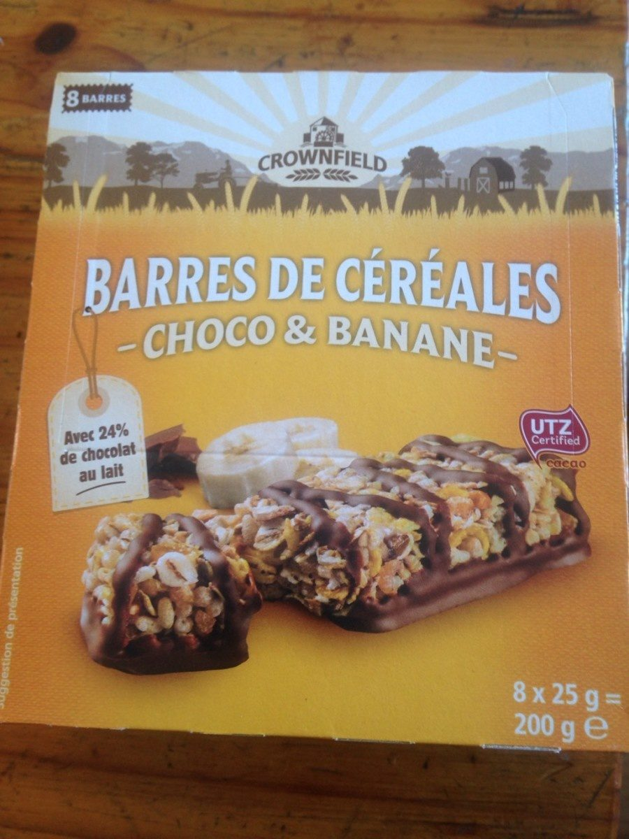 Barres Cereales Choco Banane Crownfield 200 G