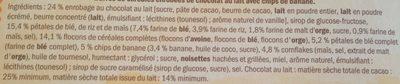 Barres céréales Choco & Banane - Składniki