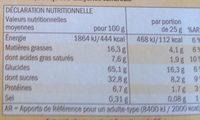 Barres céréales Choco & Banane - Nutrition facts