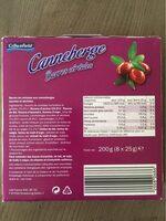 Muesli Bar Cranberry - Valori nutrizionali - de