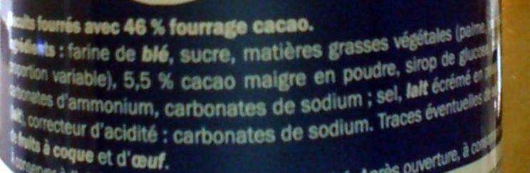 Captain Rondo Cacao - Ingredients