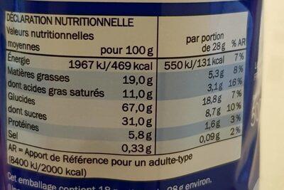 Captain rondo cacao - Informação nutricional - fr