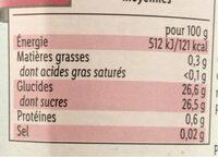 Confiture de framboise allégée - Voedingswaarden - en