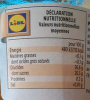 Préparation d'abricots allégée - Información nutricional - fr