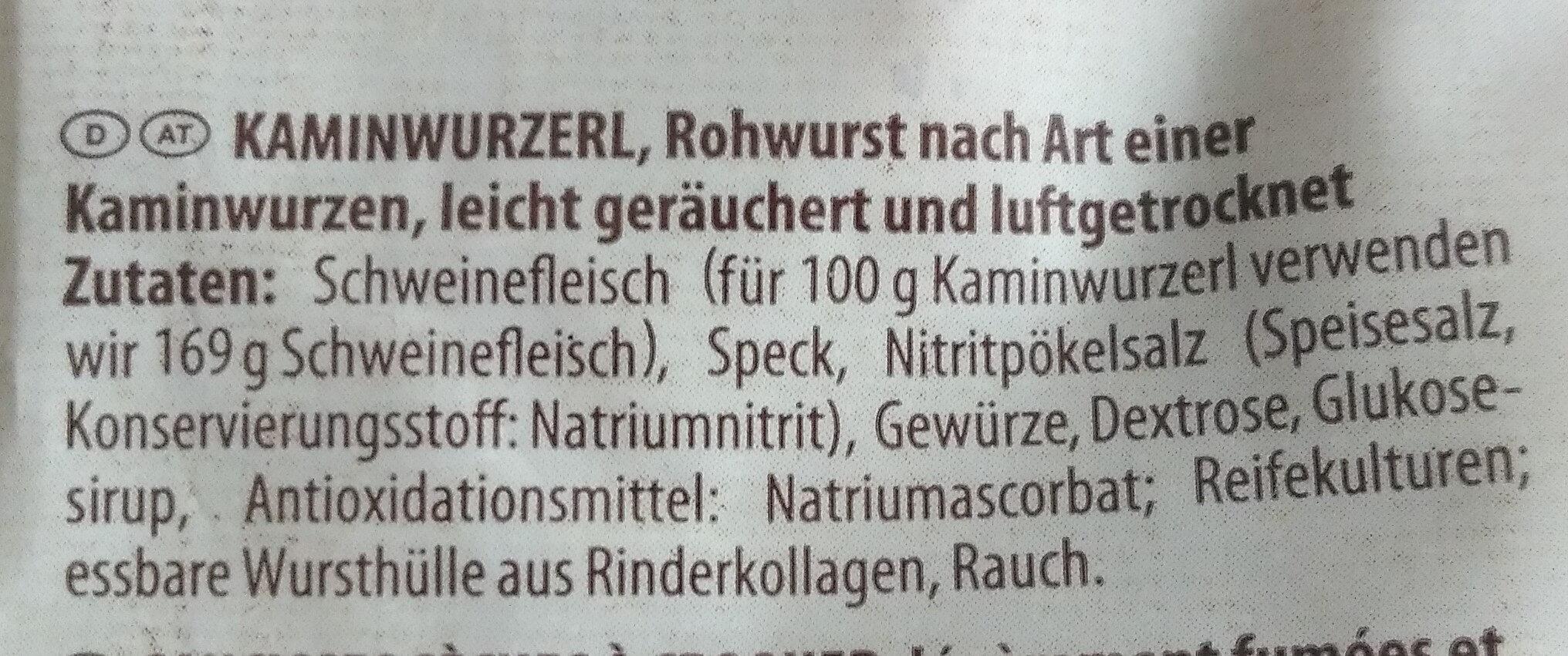 KAMIN-WURZERL - Ingredients