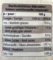 Schinkenspeck, Tiroler Speck g.g.A., St. Alpine - Nutrition facts