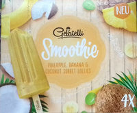 Smoothie Pineapple, banana & Coconut Sorbet Lollies - Producto