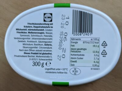 Goldessa Kräuter - Voedingswaarden