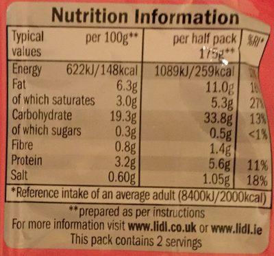 Newgate Instant Instant noodles Spicy Prawn flavour - Nutrition facts