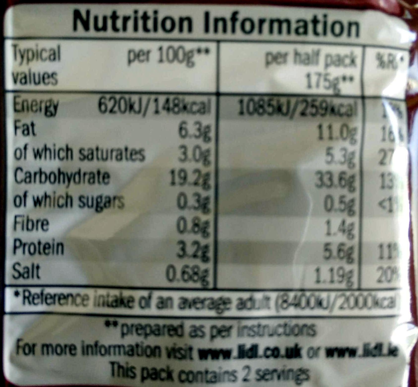 Newgate Instant Instant noodles Barbecue beef flavour - Informations nutritionnelles - en