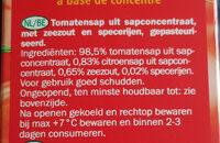 Vitafit - Tomatensaft - Ingrediënten