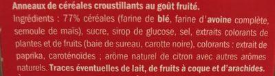 Froot Loops - Ingredients - fr