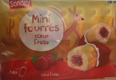 Mini fourrés coeur fraise - Product