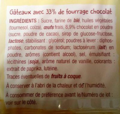 Mini fourrés cœur chocolat - Ingrédients